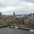 The english Parliament seen from London Eye